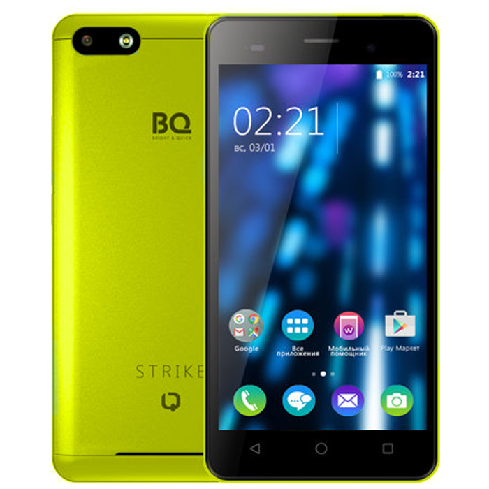 Смартфон BQ Mobile BQS-5020 Strike Yellow