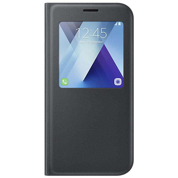 Чехол S-View Standing Cover для Samsung Galaxy A7 (2017) SM-A720F, черный