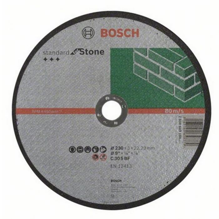 Отрезной круг по камню Bosch Standart 230х3мм прямой 2608603180