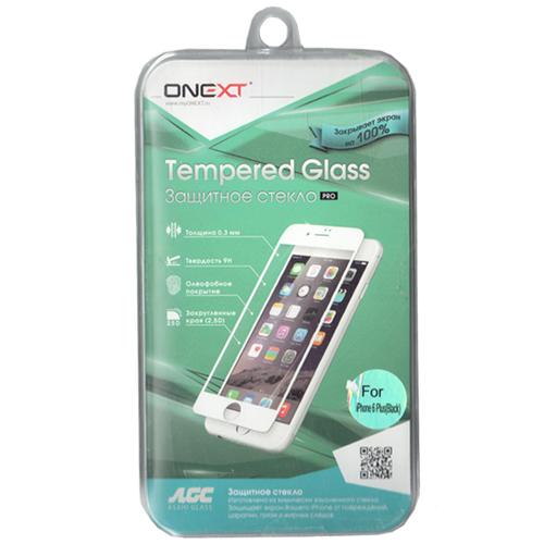 Защитное стекло Onext для iPhone 6 Plus, черная рамка