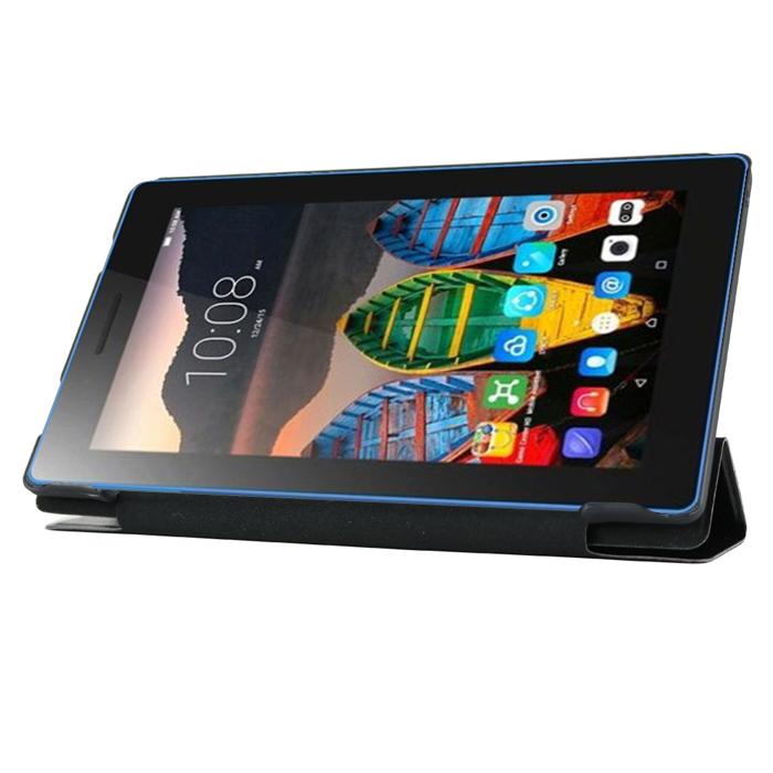 Чехол для Lenovo Tab 3 TB3-730X, IT BAGGAGE, черный, эко кожа