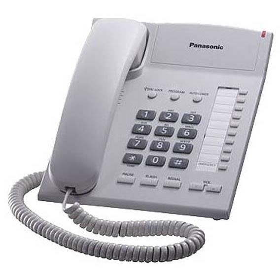 Телефон PANASONIC KX-TS2382RUW, белый