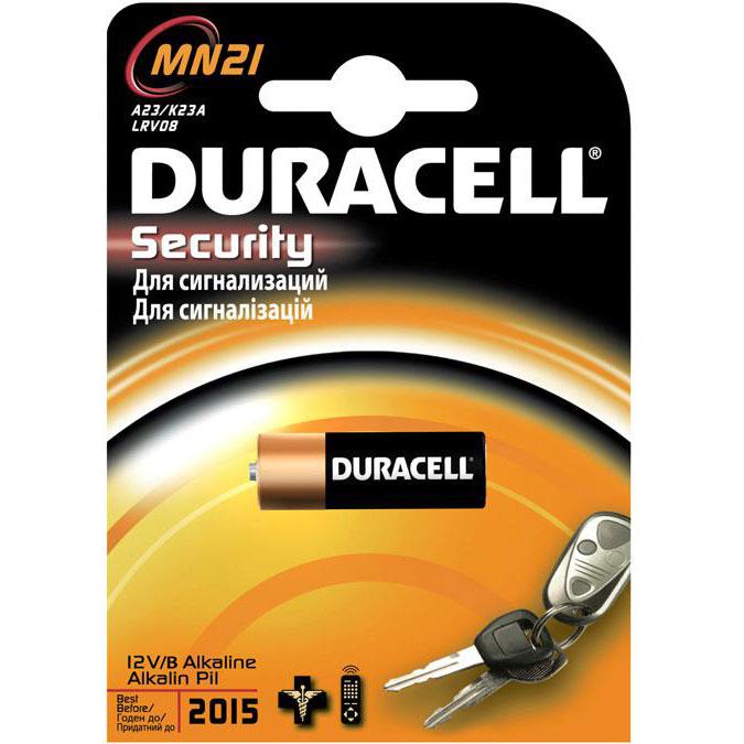 Батарейки Duracell MN21 B1 Security 12V Alkaline