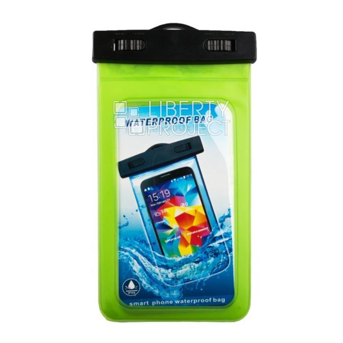 Водонепроницаемый чехол для смартфона до 5″, Liberty (зеленый)