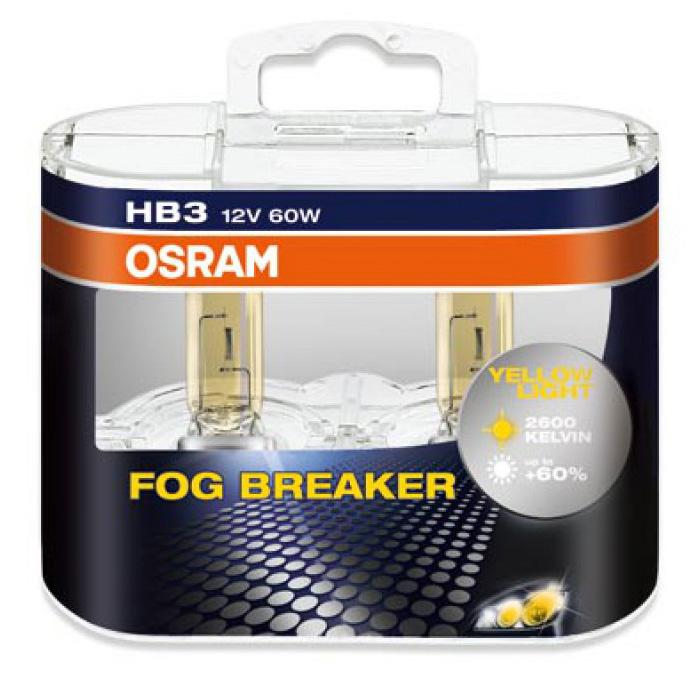 Лампа OSRAM HB3 60W Fog Breaker 2 шт.