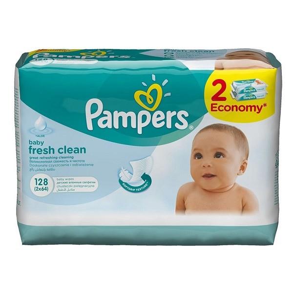 Салфетки Pampers Baby Fresh 2х64 з/блок