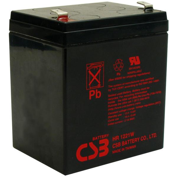 Батарея CSB HR1221W F2, 12V  4,8Ah