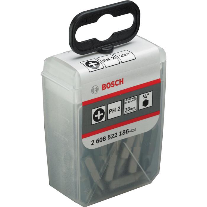 Набор бит 25 предметов Bosch PH2, 25мм 2608522186