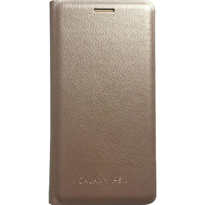 Чехол Acqua Wallet Extra для Galaxy A5 (2016) SM-A510F, золотистый