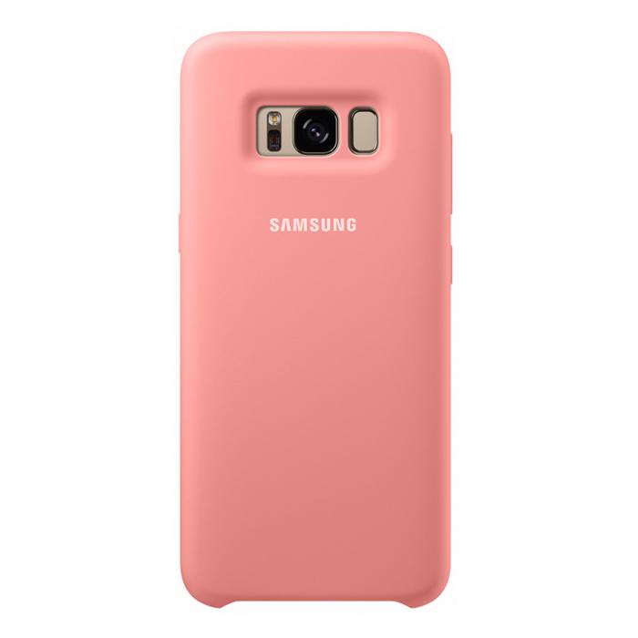 Чехол Samsung Silicone Clear для Samsung Galaxy S8+ SM-G955, розовый
