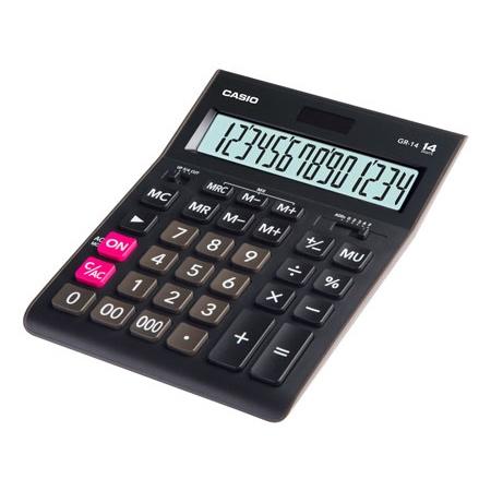 Калькулятор настольный Casio GR-14 черный, 14 разрядов