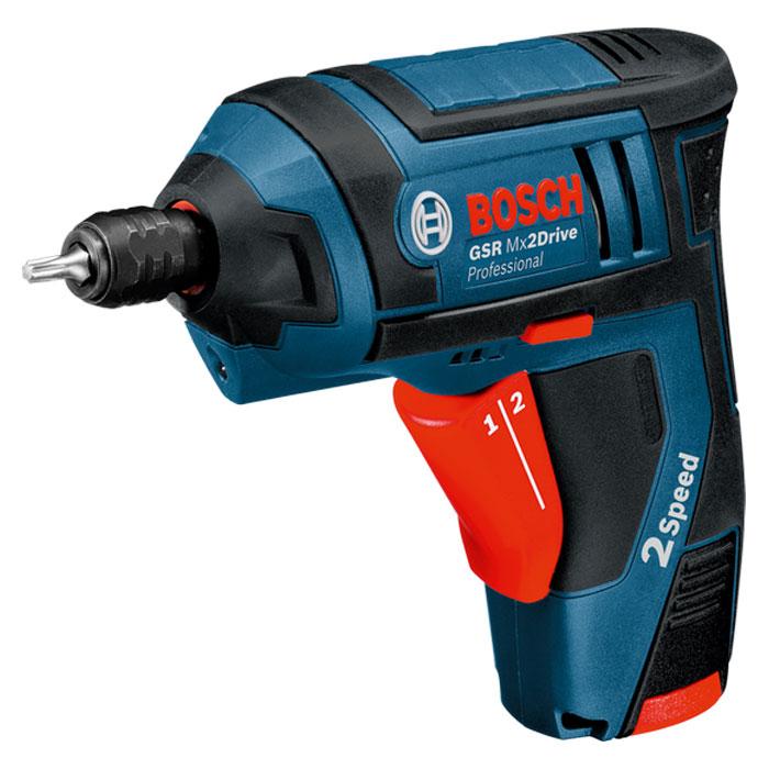 Аккумуляторная отвертка Bosch GSR Mx2Drive 1.3Ah x2 Case 06019A2101