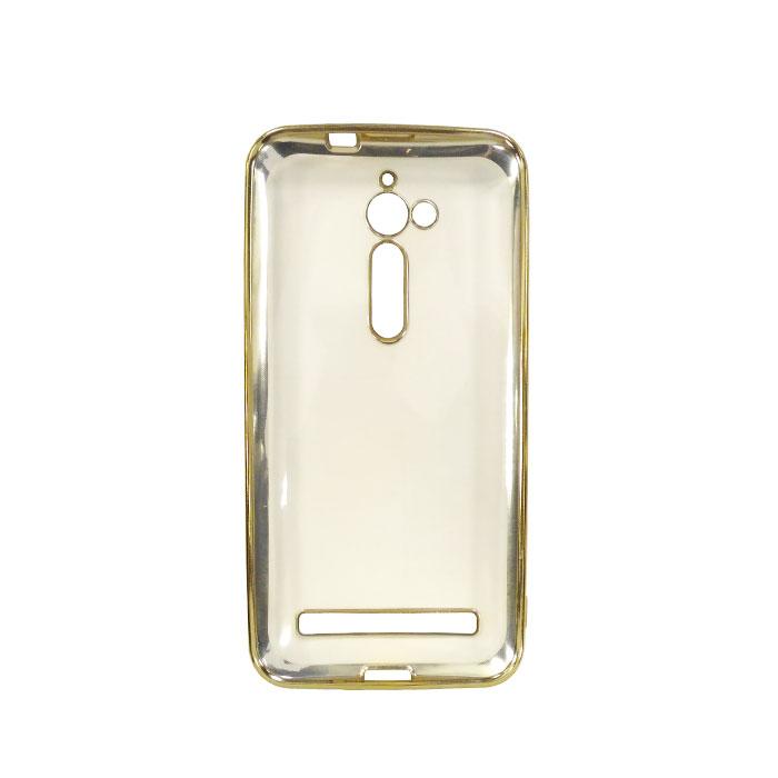 Чехол skinBOX 4People silicone chrome border case для Asus ZenFone Go ZB500KL золотистый