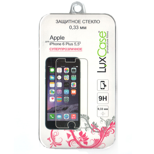 Защитное стекло LuxCase 0,3 мм для iPhone 6 Plus