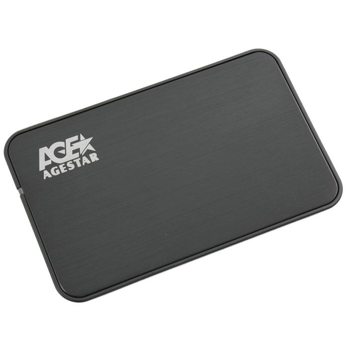 Корпус для HDD 2.5″ SATA-USB3.0 AgeStar 3UB2A8S-6G Black, Alum