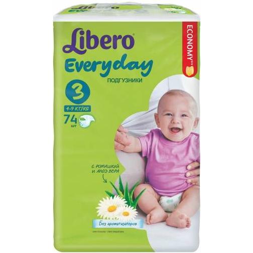 Подгузники Libero Everyday 4-9 кг (3) 74шт.