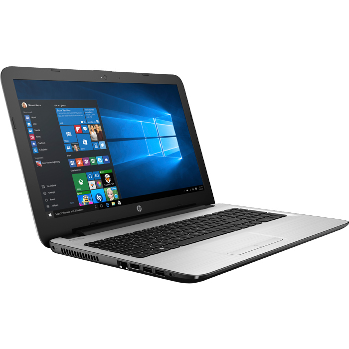 Ноутбук 15.6″ HP 15-ay025ur W6Y50EA Intel N3710/4Gb/500Gb/15.6″/DVD/Win10 белый ( W6Y50EA )