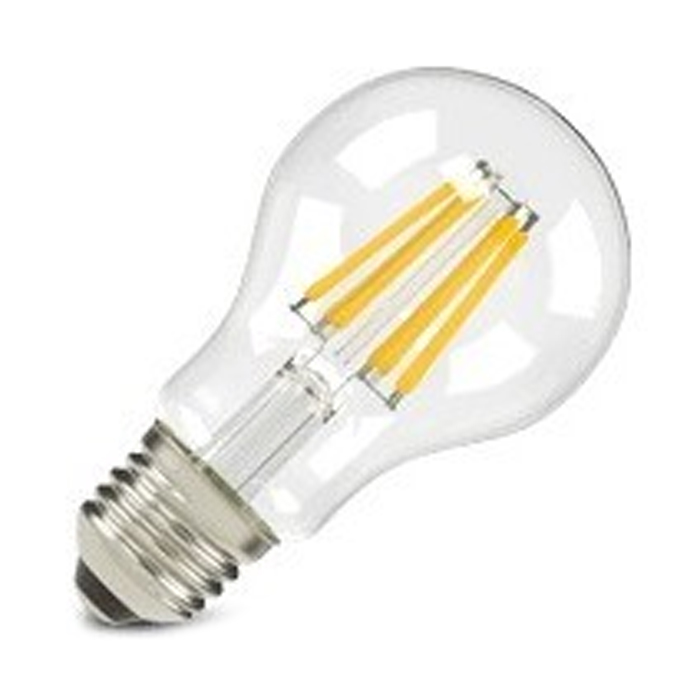 Светодиодная LED лампа X-flash Bulb E27 8W 220V желтый свет, филамент