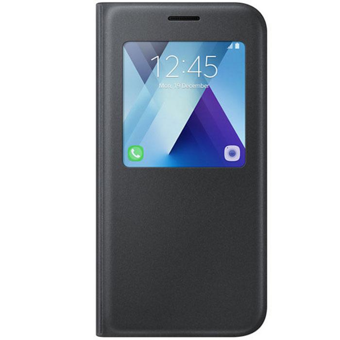 Чехол Samsung S-View Standing Cover для Galaxy A5 (2017) SM-A520F, черный