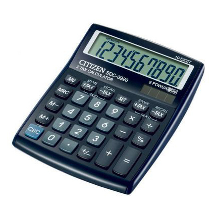 Калькулятор Citizen SDC-3920BP, 10 разрядов