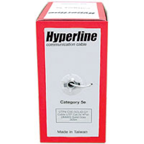 Кабель витая пара Hyperline UTP4-C5E-SOLID-BL-305 UTP кат. 5e 4 пары 24AWG одножильный (305м.) синий