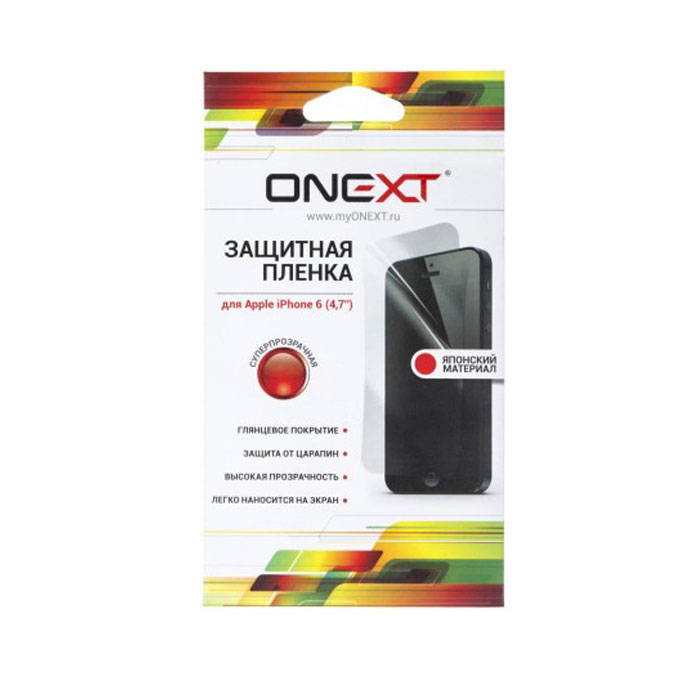 Защитная плёнка для iPhone 6 / iPhone 6s Onext Суперпрозрачная