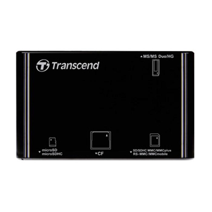 Ридер карт памяти внешний Transcend P8 all-in-one, программа восстановления фотографий ( TS-RDP8K ) Retail Черный