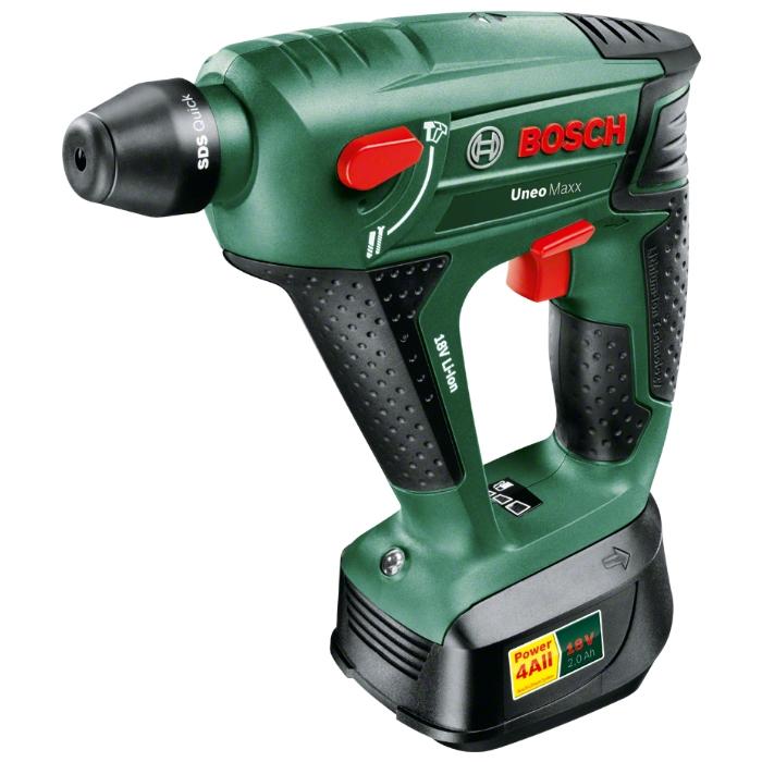 Аккумуляторный перфоратор Bosch Uneo Maxx 18 LI 2.5Ah x1 Case 0603952324