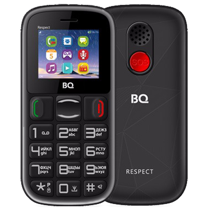 Сотовый телефон BQ Mobile BQ-1800 Respect Black+Red