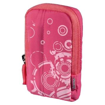 Чехол для фотокамеры Hama Fancy Print 60L розовый
