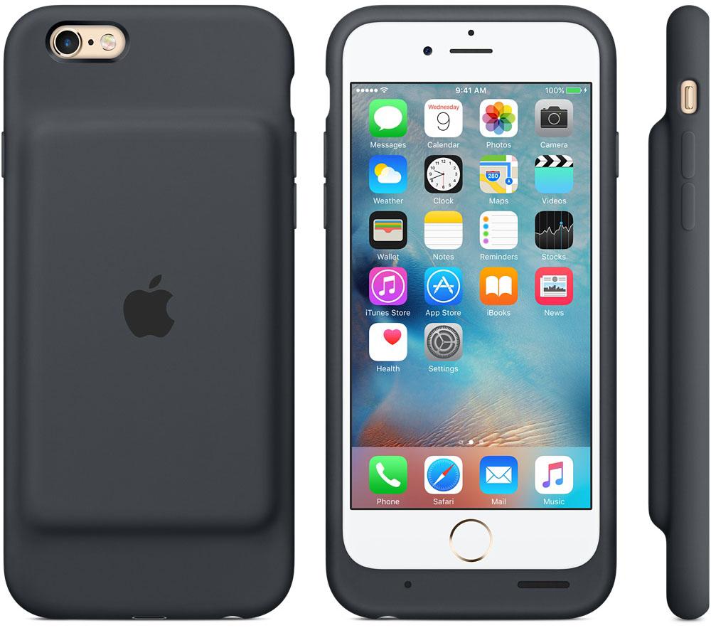 Чехол для iPhone 6 / iPhone 6S Apple MGQL2ZM/A со встроеной батареей 1877mAh Charcoal Gray