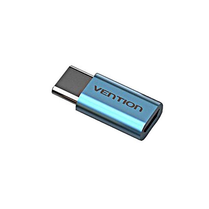 Адаптер USB2.0 microB(5P) - USB тип С(m) Vention ( VAS-S10-S ) Голубой