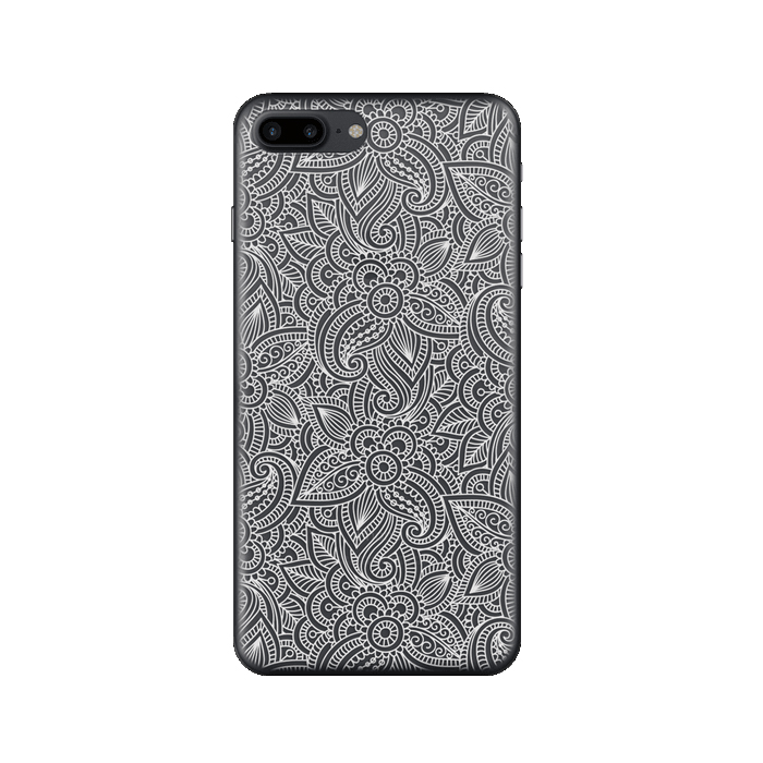 Чехол Deppa Art Case с пленкой для iPhone 7 Plus, Boho, Кружево светлое