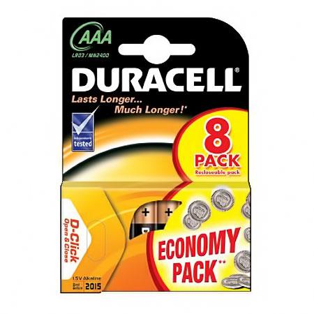 Батарейки Duracell LR03-8BL Basic AAA 8шт.