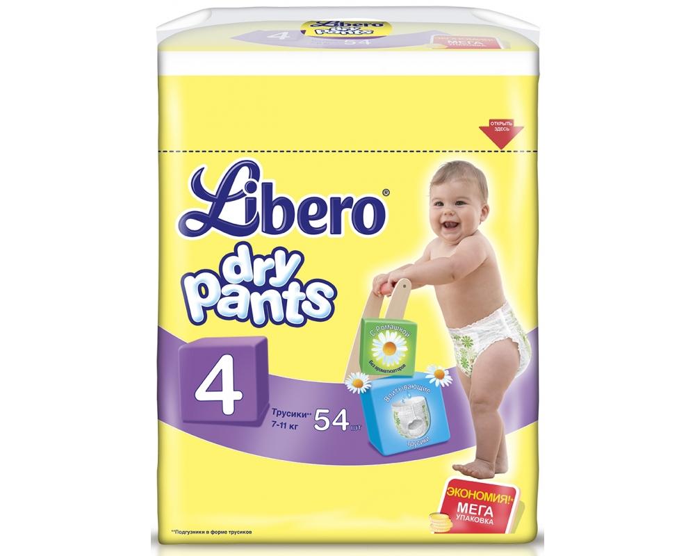 Трусики Libero Dry Pants мега макси 7-11кг, 54шт. (5567, 5618)