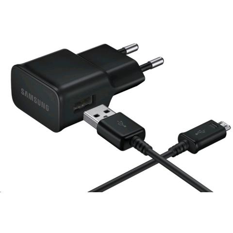 Зарядное устройство сетевое с кабелем microUSB Samsung EP-TA12EBEUGRU 2A, чёрное