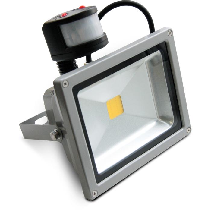 Светодиодный прожектор X-flash Floodlight PIR IP65 20W 220V 44221 белый свет, датчик движения и освещенности