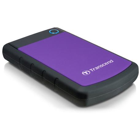 Внешний жесткий диск USB3.0 2.5″ 2Тб Transcend StoreJet ( TS2TSJ25H3P ) Черно-фиолетовый