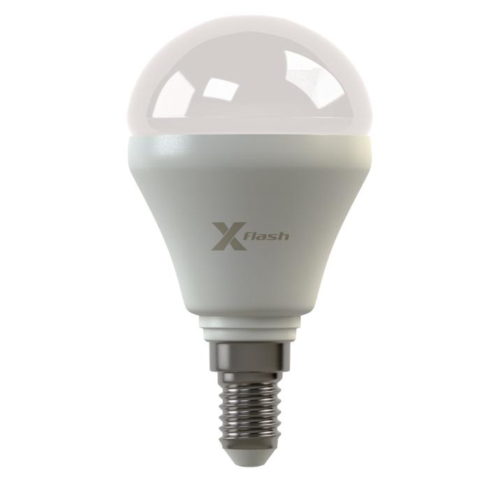 Светодиодная LED лампа X-flash Mini E14 4W 220V белый свет, матовая колба