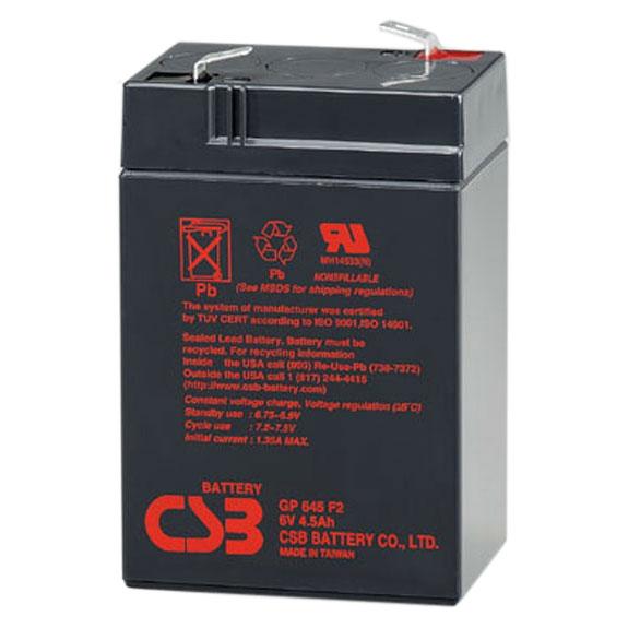 Батарея CSB <> GP645 (6V 4.5Ah)