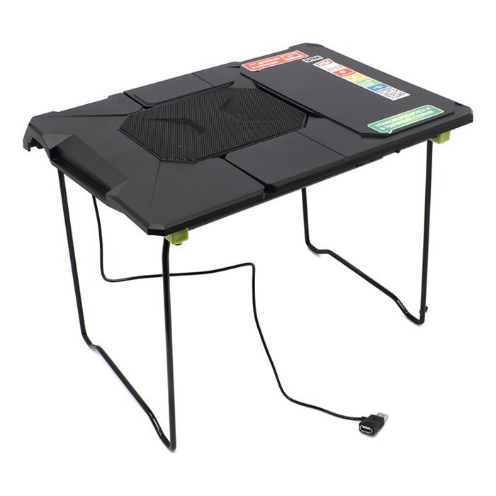 Универсальный стол-подставка STM IP17TF для ноутбука, вентилятор охлаждения, до 17″, черная