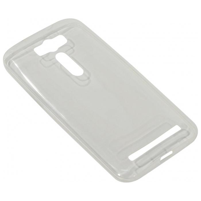 Чехол Gecko Силиконовая накладка для Asus ZenFone 2 Laser ZE500KL/ZE500KG прозрачно-глянцевая, белая