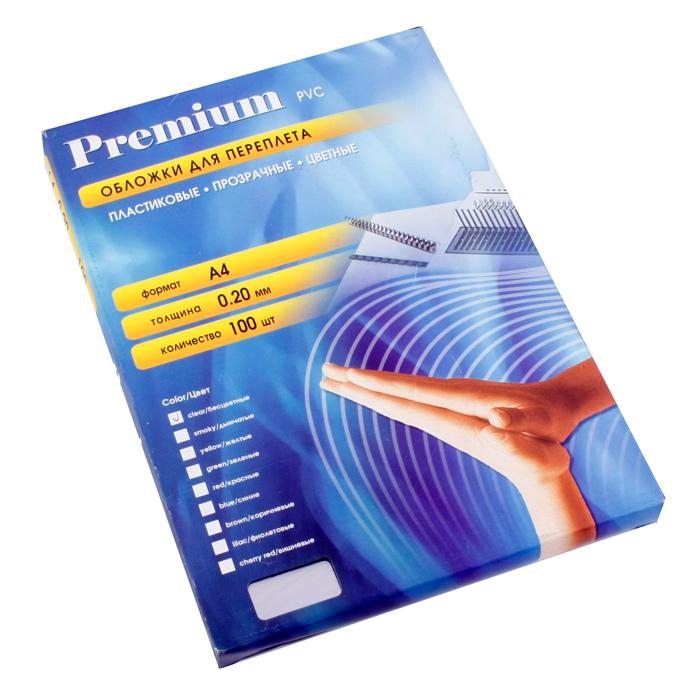 Обложки прозрачные пластиковые А4 0.2 мм 100 шт.