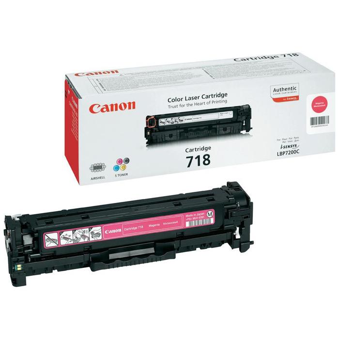 Картридж Canon 718 Magenta