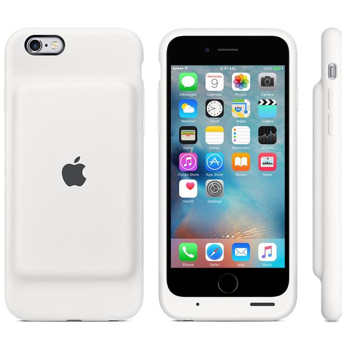 Чехол для iPhone 6 / iPhone 6S Apple MGQM2ZM/A со встроеной батареей 1877mAh White