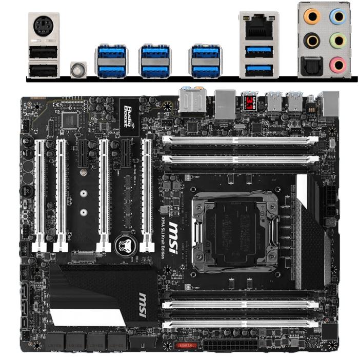 Материнская плата MSI X99 LGA2011-v3 DDR4 ( X99A SLI Krait Edition ) ATX Ret
