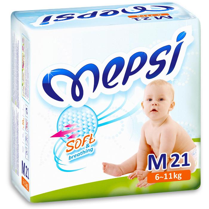 Подгузники Mepsi premium М (6-11кг), 21 шт