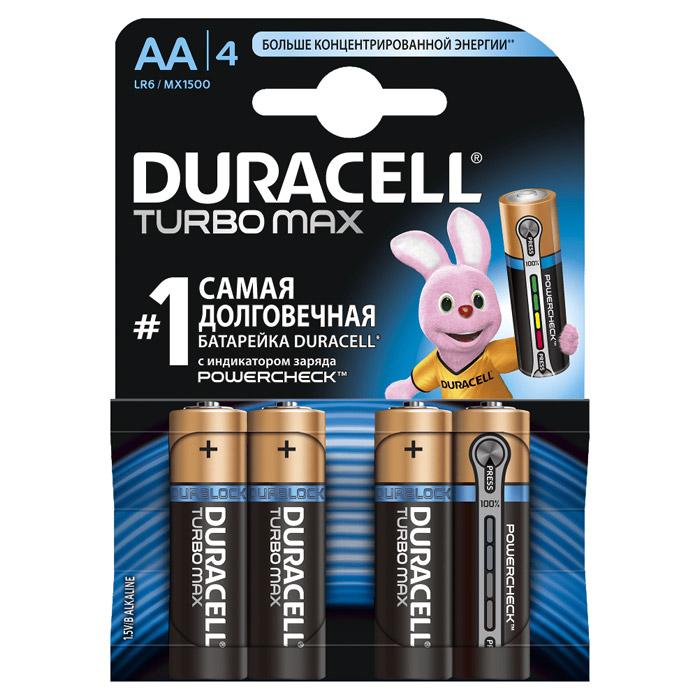 Батарейки Duracell LR6-4BL Turbo Max AA 4шт.