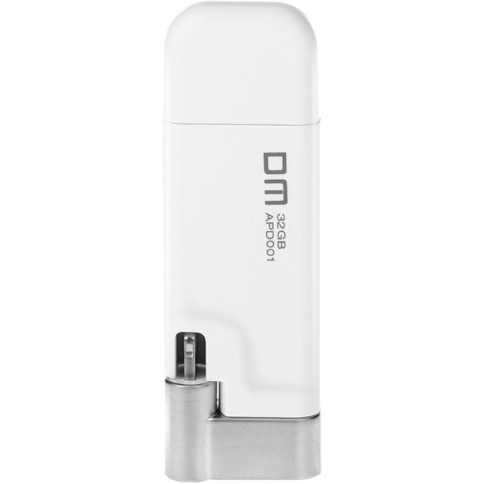 Флеш-диск 32Гб DM AIPLAY для Apple iPhone 5\5S\iPhone 6\6 Plus\iPad с разъемом Lightning MFI белый
