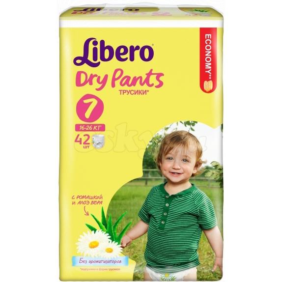 Трусики Libero Dry Pants мега экстра лардж плюс 16-26кг, 42шт.